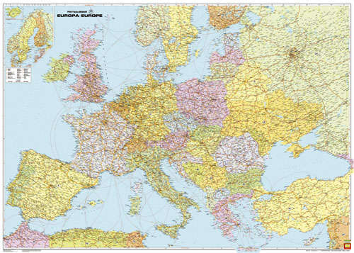 Ref Man44 Gt Administracyjno Drogowa Mapa Europy Sam Arkusz