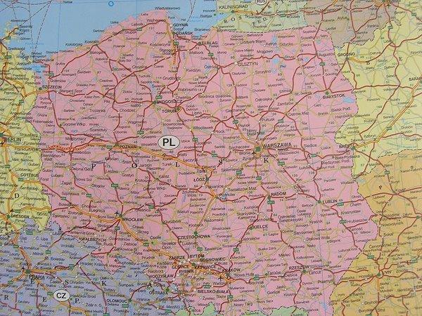 mapa europy drogowa