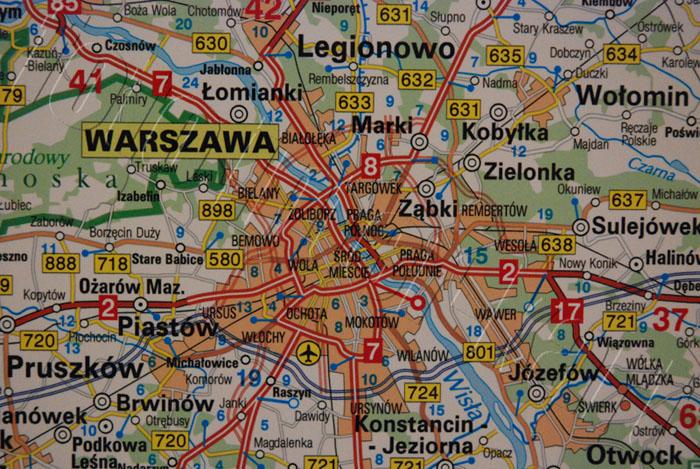 Wybitny mapa scienna drogowa najwieksza duza - Mapy ścienne z kodami AS61